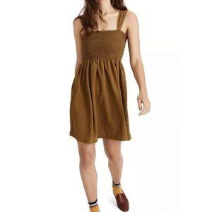 Madewell Smocked Dress Stretch Knit Sleeveless